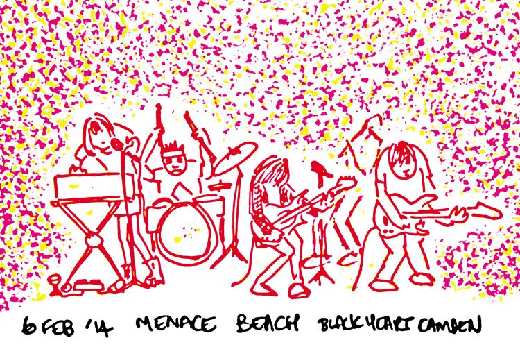 Menace Beach at the Black Heart, Camden. 6th Feb 2014