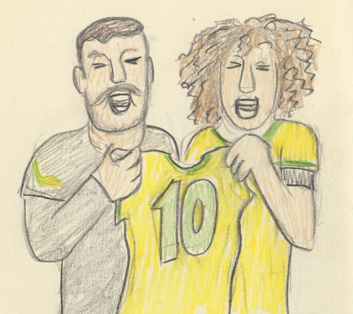 David Luiz, Julio Cesar, Neymar